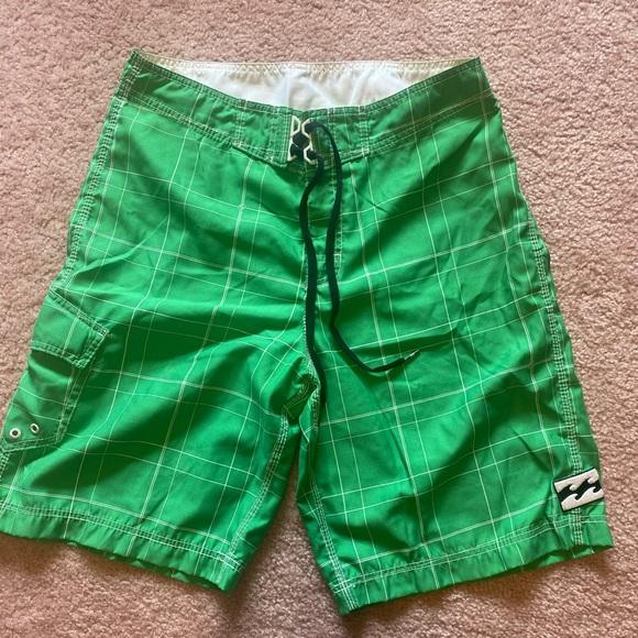 Men's green billabong board shorts